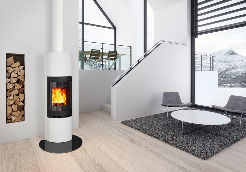 jotul fs 73 et fs 91 en b ton brut peindre chemin es po les bois courseulles. Black Bedroom Furniture Sets. Home Design Ideas