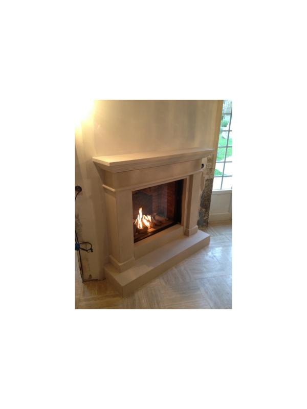pose d 39 une chemin e gaz faber courseulles sur mer chemin es po les bois courseulles. Black Bedroom Furniture Sets. Home Design Ideas